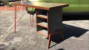 Modern Desk Table by Mid Century Modern Desk And Writing Table Youtube