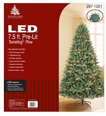 pre lit christmas trees enchanted forest 8 prelit laguna pine artificial christmas tree
