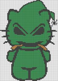 oogie boogie hello kitty perler bead pattern borduren