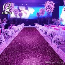 purple aisle runner 10 m roll shiny pearlescent wedding carpet t station aisle