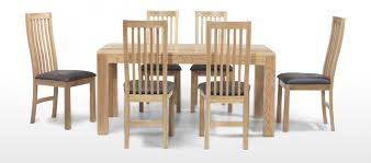 Oak Dining Room Tables And Chairs by Cube Oak 160 Cm Dining Table And 6 Chairs Quercus Living