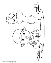 pocoyo pocoyo and pato drawing coloring page
