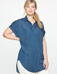 popover blouse chambray popover blouse s plus size tops eloquii