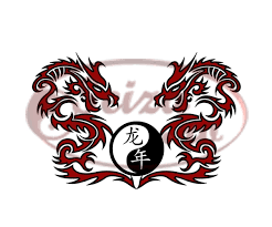 tattoo design with dragons and the yin yang symbol chinese