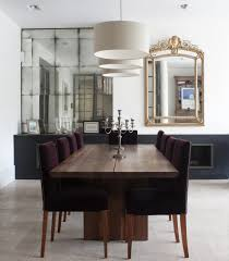 minimalist modern design of the mirror dining room decoration that