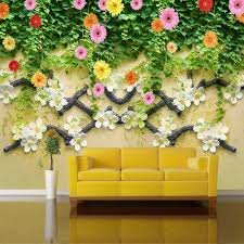 pastoral style rose flowers vines large wall painting wallpaper pastoral style rose flowers vines large wall painting wallpaper non woven custom living room tv background wall mural wallpaper in wallpapers from home