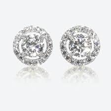 silver earring the amelia sterling silver diamonflash cubic zirconia stud earrings