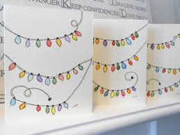 Diy Christmas Lights by Christmas Lights A Glowing Three Watercolor Christmas