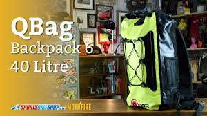 qbag 40l motorcycle backpack 6 overview youtube