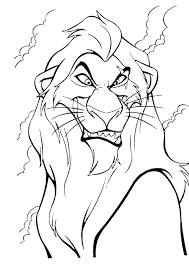 king coloring pages scar