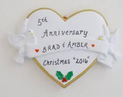anniversary christmas ornament ornament 10th anniversary etsy
