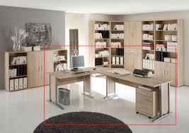 Winkelkombination Winkelkombi Schreibtisch Sonoma Eiche Inkl Rollcontainer