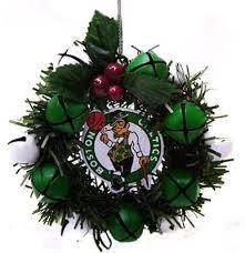 boston celtics wreath ornament