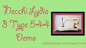 necchi lydia 3 sewing machine demonstration youtube