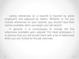 How To List References On Your Resume English Resume