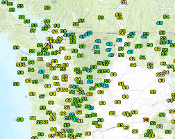 Map Of Eastern Washington by Cliff Mass Weather And Climate Blog Heat Spikes And Heavy Rain In