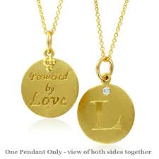 pendant l with chain initial necklace letter l pendant with 18k yellow gold chain