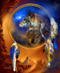 catcher wolf dreams painting by carol cavalaris