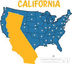 california map in us us state maps clipart california map united states clipart