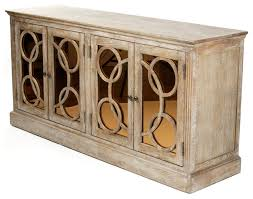 Limed Oak Kitchen Cabinets by Edith Contemporary Limed Oak With Sepia Mirrored Glass Buffet
