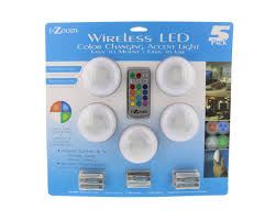 i zoom wireless led color changing push lights with remote