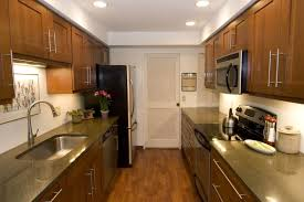 kitchen awesome galley kitchen design with illuminated wooden