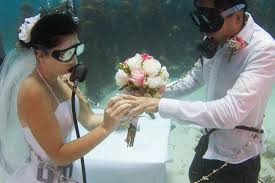 underwater wedding underwater weddings