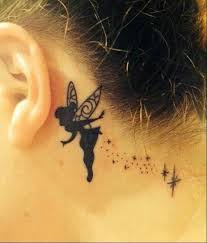 5 tinkerbell tattoos behind the ear