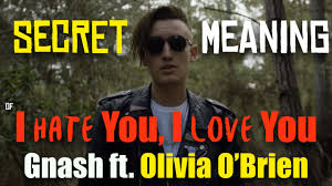I Hate You Meme - gnash i hate you i love you ft olivia o brien secret song meaning