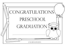preschool graduation certificate preschool graduation certificate 2 coloring page