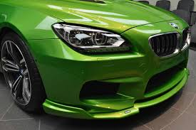 java green bmw bmw m6 gran coupe in java green color detail photo front bumper
