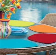 outdoor placemats for round table neoprene placemats wedge shape for a round table amazon co uk