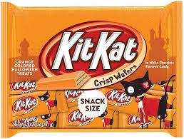 cartoon images of halloween amazon com kit kat halloween orange colored white creme wafer