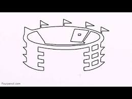 2633 how to draw cartoon stadium drawing step by step for kids