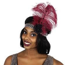flapper headband flapper headband burgundy grey black