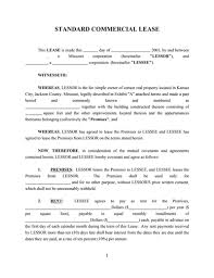 commercial lease agreement template free download create fill