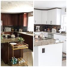 painting cherry kitchen cabinets white white kitchen cabinet makeover inspired reality white