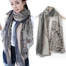 new vintage women lady soft long neck scarf wrap shawl
