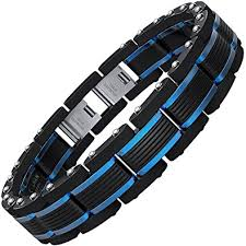 men bracelet images Coolman men bracelets blue black adjustable bracelet jpg
