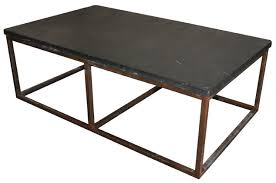 Coffee Table With Metal Base by Noir Stone Coffee Table With Metal Base Small Blue Hand Home