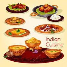 de cuisine indienne plats de cuisine indienne dîner design menu image
