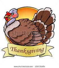 thanksgiving day logo design turkey bird stock vector 109735484
