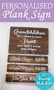 wooden personalized gifts wooden sign with personalized wooden planks would make a great