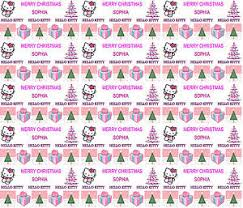 hello wrapping paper personalised christmas gift wrapping paper hello v1 any