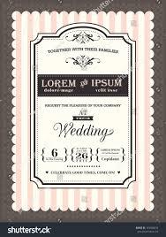 Vintage Wedding Invites Vintage Wedding Invitation Border Frame Template Stock Vector