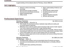 Resume Examples Pharmacy Technician by Wonderful Design Ideas Pharmacy Technician Resume Sample 3 Best