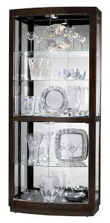 glass curio cabinets tempered glass curio cabinet with 8 halogen amazoncom howard miller bradington curio cabinet kitchen u0026 dining