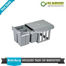 Kitchen Cabinet Recycle Bins by Kitchen Bin Pull Out Concealed Slim Slide Out Trash Bin Buy