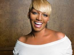 nene leakes gets all real as the hostess for seattle red dress