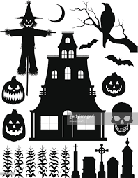 halloween silhouette vector halloween silhouettes vector art getty images